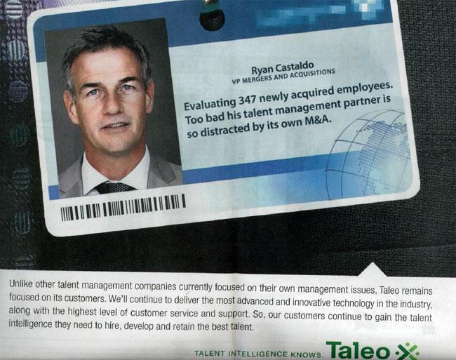 Taleo Advertisement Before Oracle Merger