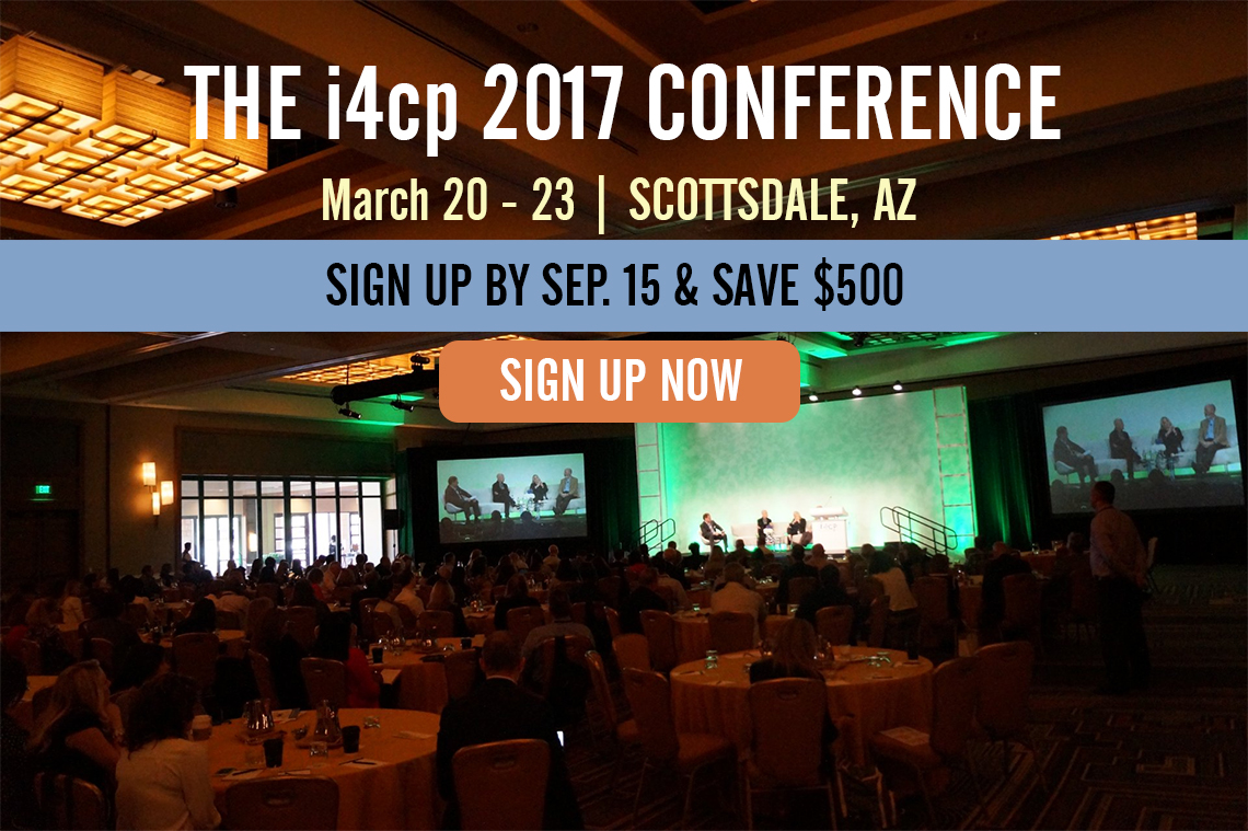 The i4cp 2017 Conference - Sign Up Early