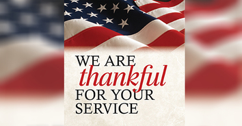 Thankful for their service and their experience