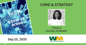CHRO COVID-19 Action Recording with Waste Management's Tamla Oates-Forney - 9/25/20