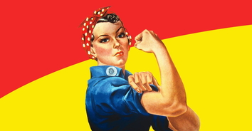 Rosie the riveter hero
