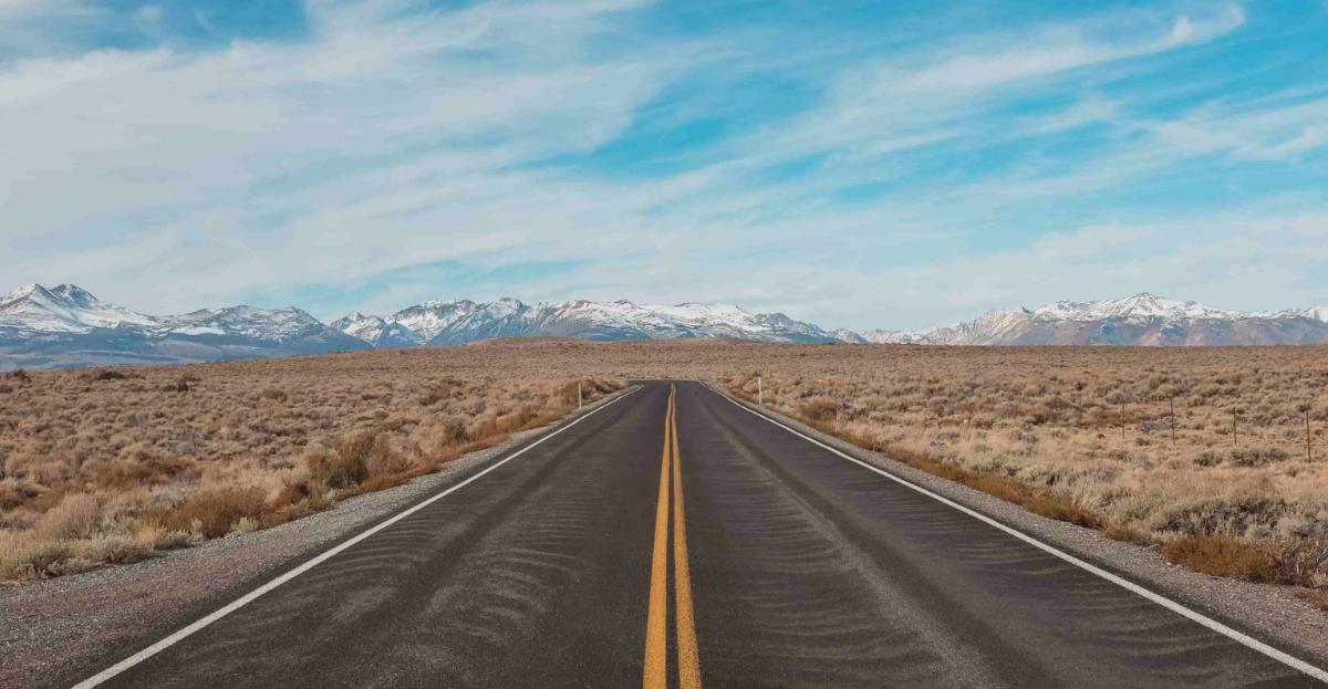 Looking ahead road hero