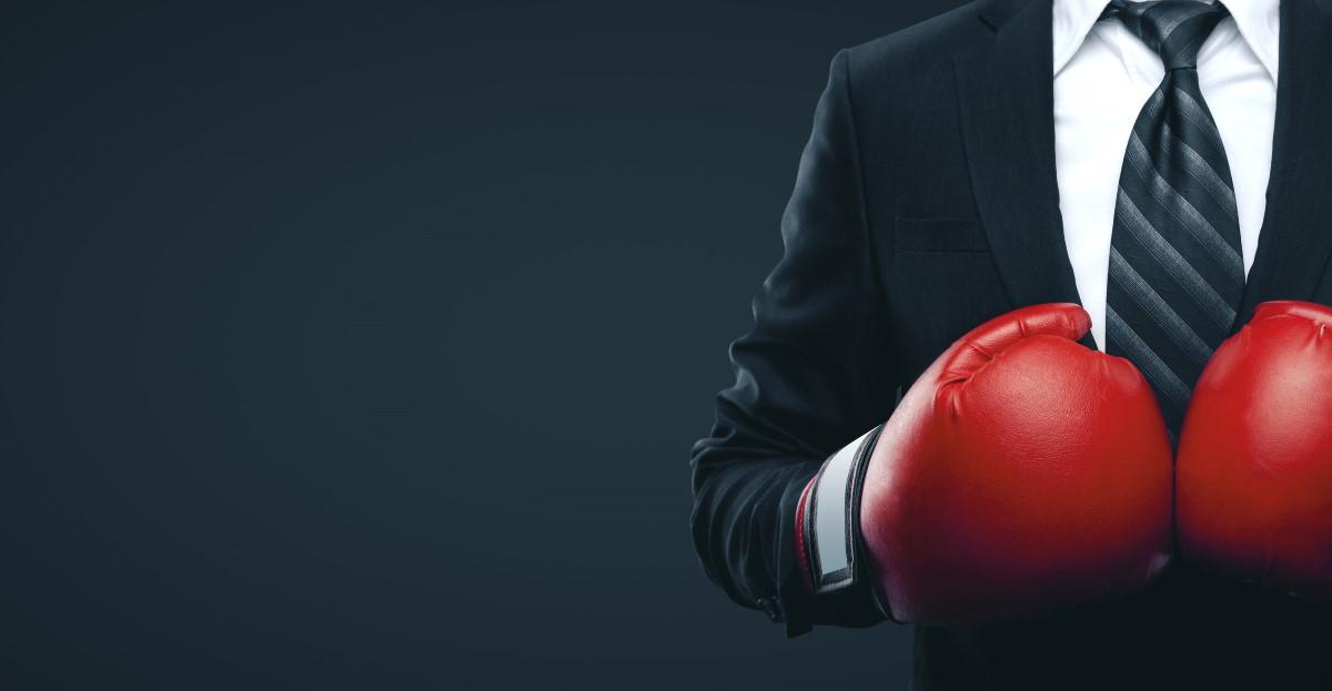 boxing businessman hero