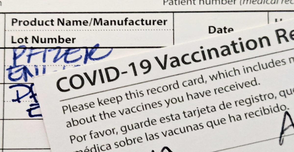 Covid vaccine card hero